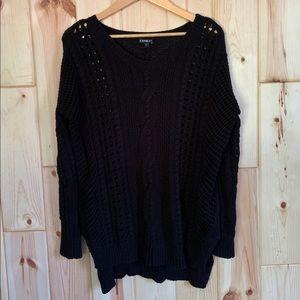 Express Oversized Black Knit Sweater S